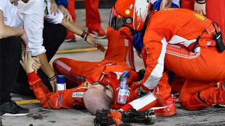 Video | El momento en que Kimi Räikkönen atropelló a un mecánico en la Fórmula 1