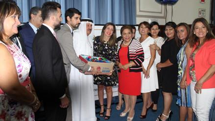 EAU donó 1,650 kits escolares al Comité de Damas del Congreso