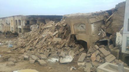 Piden trasladar restos de  más de 100 difuntos tras colapso de pabellón