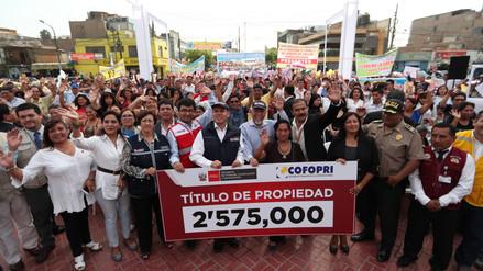 Vivienda: Diez millones de personas se beneficiaron con entrega de títulos de propiedad