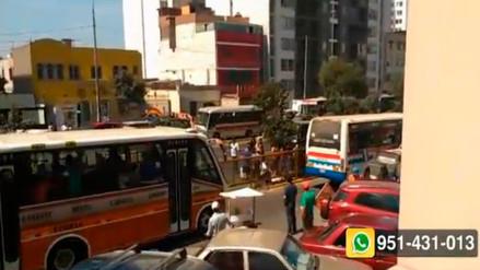 Múltiple choque deja doce heridos en la Av. Brasil