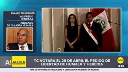 Caso Humala-Heredia: Pedraza pide que se consigne el voto del magistrado Espinosa-Saldaña