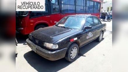 Detienen a menores que intentaban huir en taxi que robaron en Trujillo