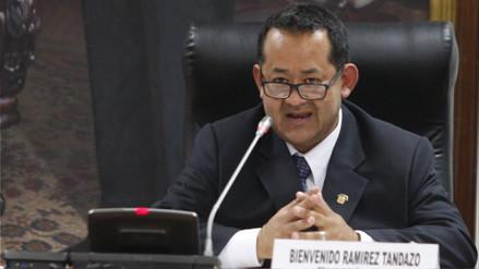Bienvenido Ramírez presentó denuncia constitucional contra Edwin Vergara
