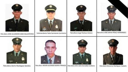 Ataque con explosivos dejó ocho policías muertos en Colombia