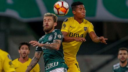 Palmeiras y Boca Juniors igualaron 1-1 en un resultado que favorece a Alianza