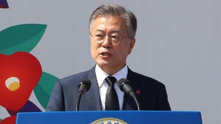 """Moon Jae-in sobre cita con Kim Jong-un: """"Es una oportunidad única para desnuclearizar la península de Corea"""""""