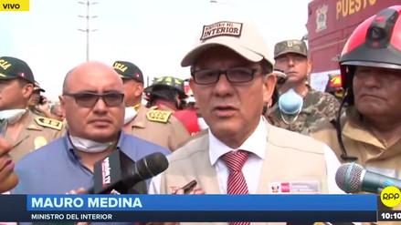 Ministro del Interior anunció que instalarán 40 carpas para las familias afectadas por incendio