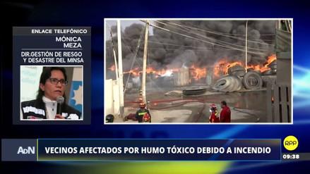 El Minsa pide a los vecinos alejarse del foco del incendio para evitar inhalar humo tóxico