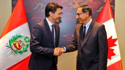 Martín Vizcarra se reunió con el primer ministro de Canadá