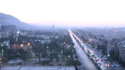 Video | El amanecer en Damasco tras el bombardeo ordenado por Estados Unidos