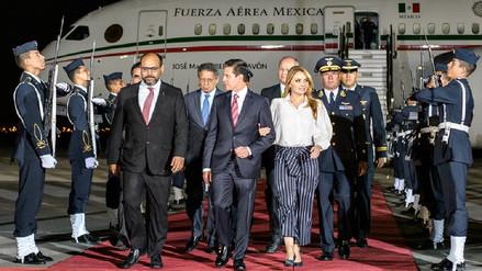 Enrique Peña Nieto llegó al Perú acompañado de Angélica Rivera para la VIII Cumbre de las Américas