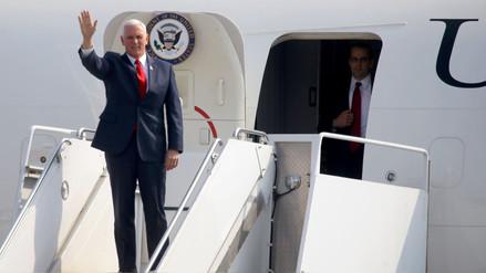 Mike Pence, vicepresidente de Estados Unidos, llegó a Lima para asistir a la Cumbre de las Américas