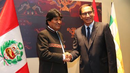 Vizcarra y Morales acordaron impulsar construcción de corredor bioceánico Perú - Bolivia