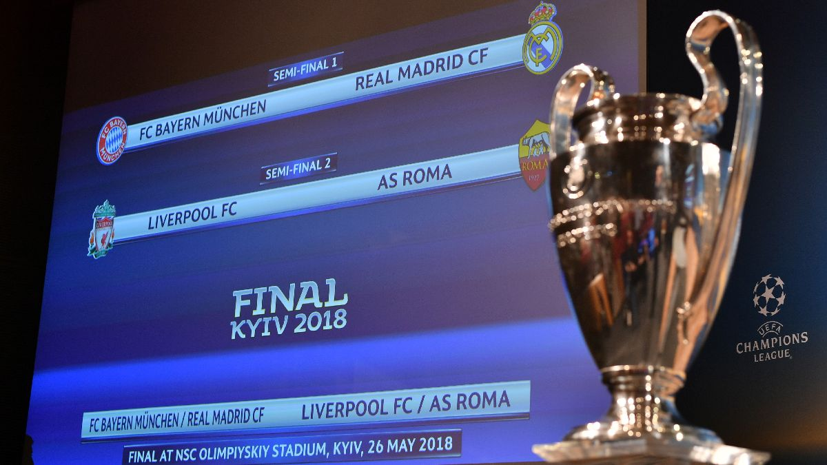 Bayern vs. Real Madrid y Liverpool vs. Roma, semifinales de la Champions League