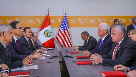 EE.UU. agradece presión de Perú a Venezuela en reunión de Mike Pence con Martín Vizcarra