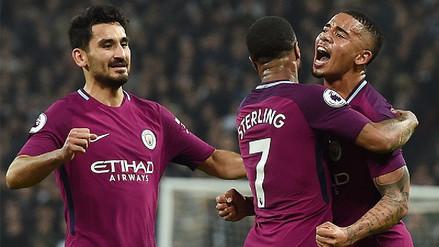 Manchester City venció al Tottenham y está a un paso de ganar la Premier League