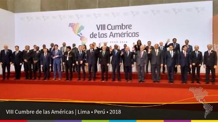 Presidentes y jefes de Gobierno se tomaron la foto oficial de la Cumbre de las Américas