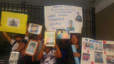 Protestan exigiendo no cese búsqueda de ocho pescadores en mar de Chimbote