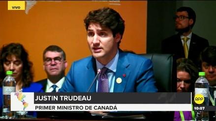 Trudeau pidió restaurar la democracia en Venezuela y denunció la violación de derechos humanos