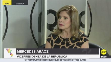 "Mercedes Aráoz: ""Pese a la crisis, Perú preservó su marco constitucional"""