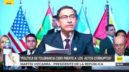 Vizcarra pidió a países de la VIII Cumbre adoptar el Compromiso de Lima contra la corrupción