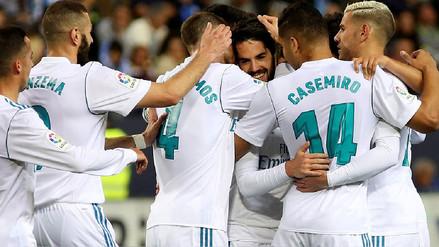 Sin Cristiano Ronaldo, Real Madrid derrotó por 2-1 de visita al Málaga