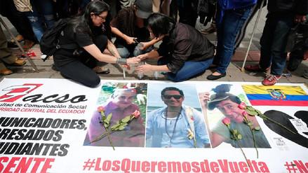 Disidencia de las FARC suspendió entrega de cuerpos de periodistas ecuatorianos