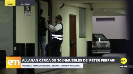 La Fiscalía y la Policía allanan 28 casas vinculadas a 'Peter Ferrari'