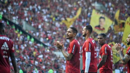 Paolo Guerrero recibió el apoyo de 50 mil hinchas del Flamengo