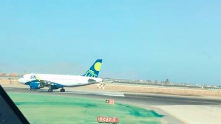 Un avión varado evitó despegues y aterrizajes en el Jorge Chávez