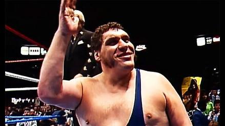 André The Giant (2 metros y 24 centímetros) falleció el 27 de enero de 1993, luchó contra grandes figuras como Hulk Hogan. Se dice que su altura real estaría más cerca de los 2 metros y 10 centímetros.