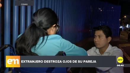 Mujer puede quedar ciega tras ser atacada brutalmente por su pareja