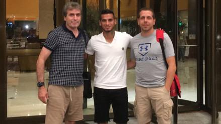 Miguel Trauco recibió la visita de los preparadores físicos de la Selección Peruana