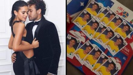 Panini troleó a la novia de Neymar con las figuritas del álbum  del Mundial