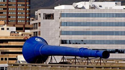Rusia instaló una vuvuzela gigante que sonará cada vez que anoten en el Mundial