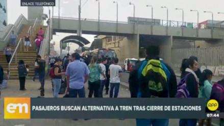 Cierre temporal de servicio de trenes afectó a cientos de usuarios en el cono sur