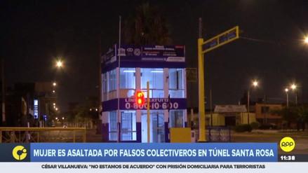 Falsos colectiveros asaltan y agreden sexualmente a una joven en el túnel Santa Rosa