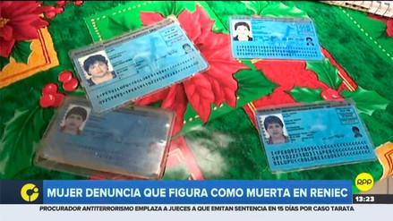 Reniec dijo que mujer que denunció su registro falso de defunción podrá renovar su DNI en tres días