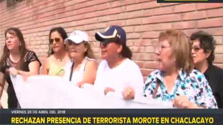 Vecinos de Chaclacayo rechazan la presencia de terrorista Osmán Morote
