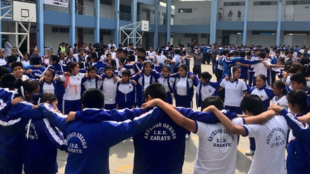 Estudiantes participaron del primer Simulacro Nacional Escolar 2018
