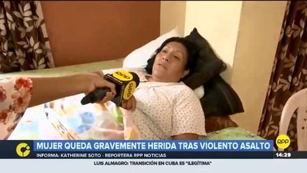 Delincuentes a bordo de un auto arrastraron a una mujer en Carabayllo