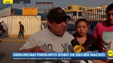 Padres denuncian presunto robo de bebé recién nacido en hospital Cayetano Heredia