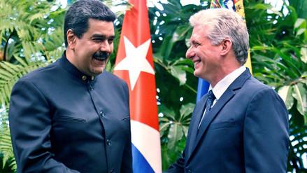 Maduro visitó a Díaz-Canel para