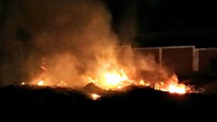 Quema de maleza dentro de colegio se salió de control en Chiclayo