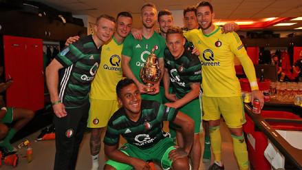 Sin Renato Tapia, el Feyenoord se consagró campeón de la Copa de Holanda
