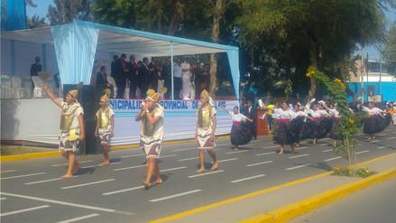 Poca concurrencia en desfile por aniversario de la provincia de Chiclayo