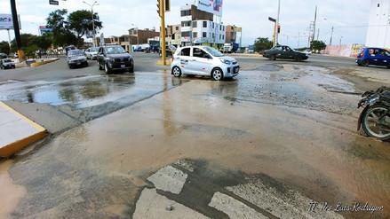 Suspenderán agua en La Victoria y zona sur de Chiclayo por rotura de tubería