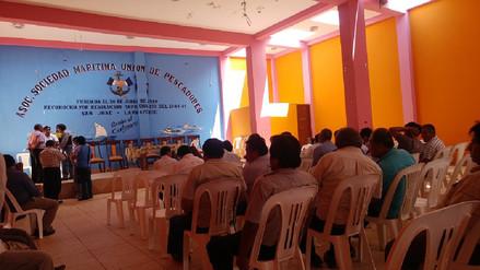 Pescadores se reunirán con Ministro de Energía y Minas en caleta San José