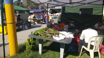 Agricultores exponen sus productos en Primera Feria de Frutas y Verduras